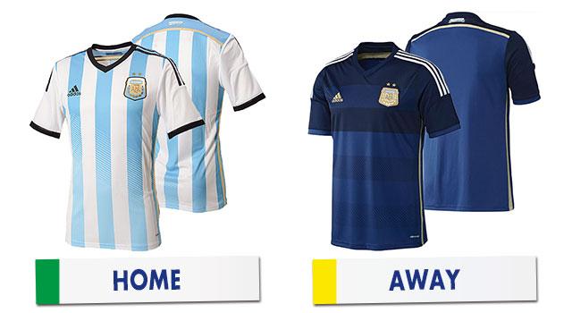 ブラジルワールドカップ アルゼンチン代表ユニホーム