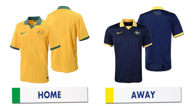 ブラジルワールドカップ オーストラリア代表ユニホーム