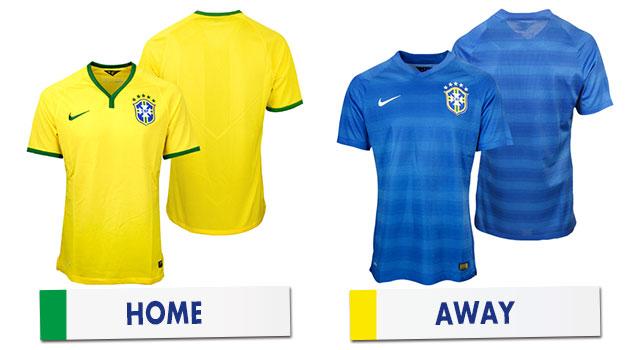 ブラジルワールドカップ ブラジル代表ユニホーム