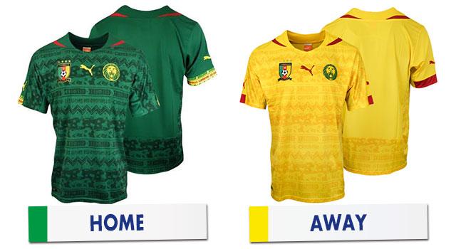 ブラジルワールドカップ カメルーン代表ユニホーム