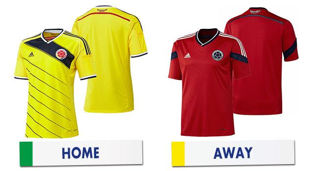 ブラジルワールドカップ コロンビア代表ユニホーム