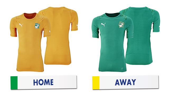 ブラジルワールドカップ コートジボワール代表ユニホーム