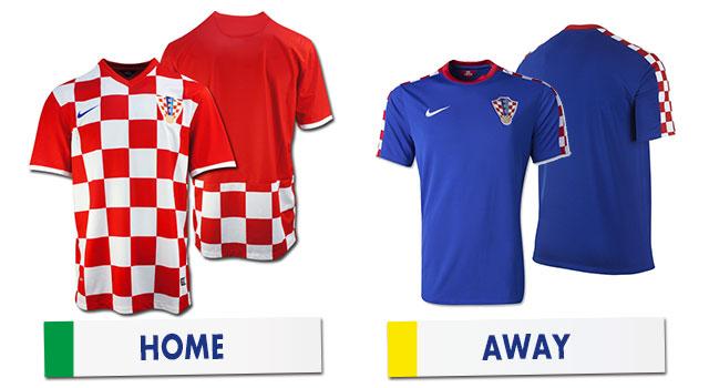 ブラジルワールドカップ クロアチア代表ユニホーム