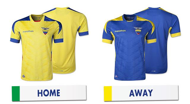 ブラジルワールドカップ エクアドル代表ユニホーム