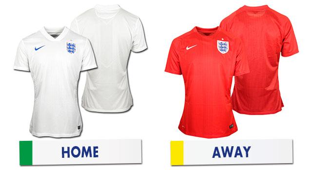 ブラジルワールドカップ イングランド代表ユニホーム