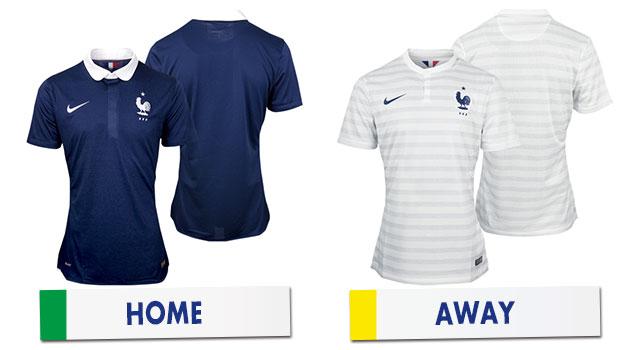 ブラジルワールドカップ フランス代表ユニホーム