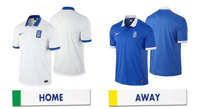 ブラジルワールドカップ ギリシャ代表ユニホーム