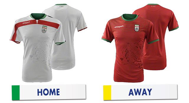 ブラジルワールドカップ イラン代表ユニホーム