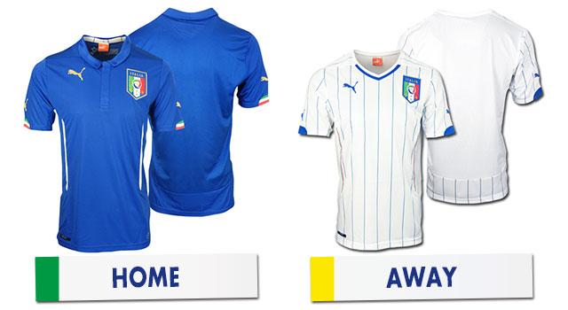 ブラジルワールドカップ イタリア代表ユニホーム
