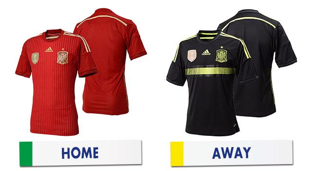 ブラジルワールドカップ スペイン代表ユニホーム