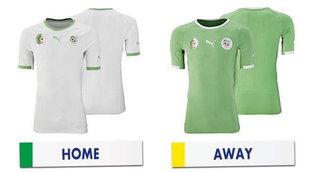 ブラジルワールドカップ アルジェリア代表ユニホーム