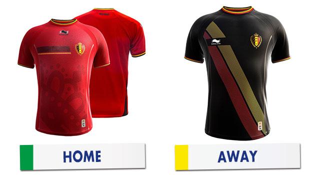 ブラジルワールドカップ ベルギー代表ユニホーム