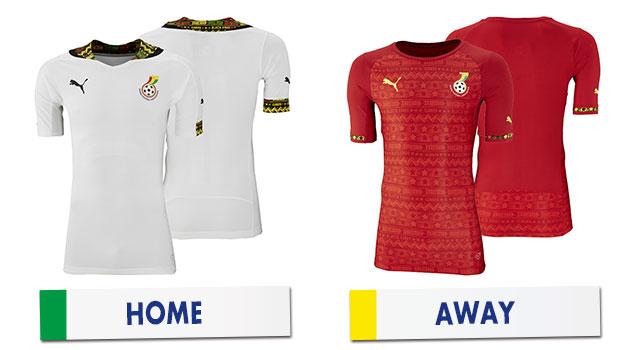 ブラジルワールドカップ ガーナ代表ユニホーム