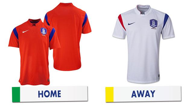 ブラジルワールドカップ 韓国代表ユニホーム