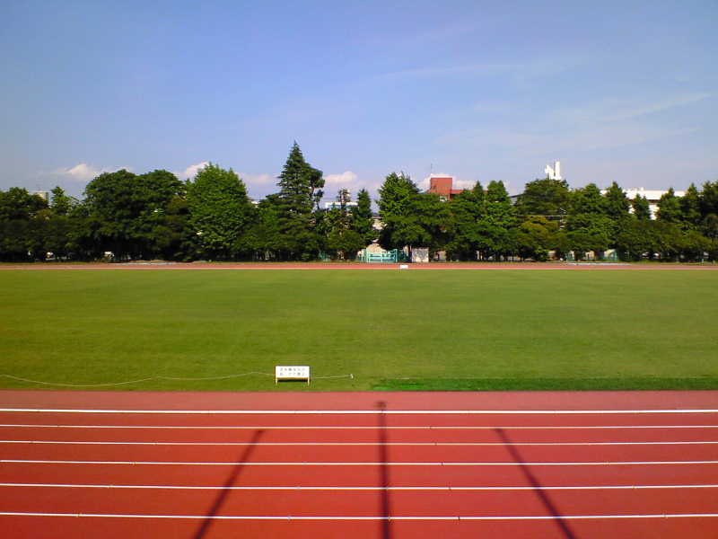 青木町公園総合運動場内陸上競技場