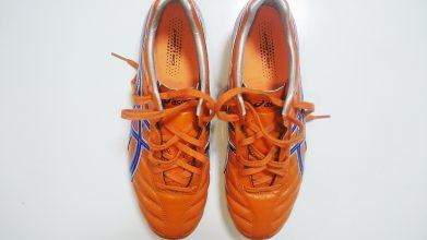 【アシックス】DSライト(オレンジ×ブルー)1