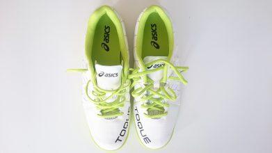 【アシックス】TOQUE 3 TF(ホワイト×グリーン)1